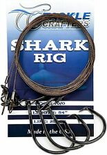 Shark Rig Circle Hook Saltwater Fishing Gear and Tackle ( 3 Pack ) Made in Usa