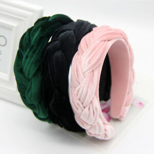 Women's High-grade Velvet Braided Headband Hairband Hair Band Hoop Accessories