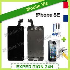 ECRAN LCD + VITRE TACTILE RETINA COMPLET SUR CHASSIS IPHONE SE NOIR + OUTILS