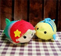 "Tsum Tsum 3.5"" The Little Mermaid Ariel Flounder Plush Doll Toy Screen Wipe New"