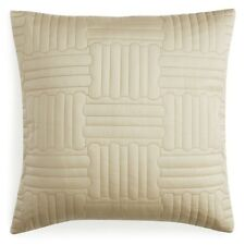 """Pratesi Up & Down Quilted 20"""" Square Geometric Decorative Pillow Gold"""