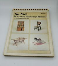 Vintage 1978 Spiral Mott Miniature Workshop Manual #1 Dollhouse Furniture Toys