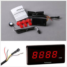 Motorcycles Mini Red LCD Tachometer Gauge Tach Hour Meter 0~20000 RPM Universal
