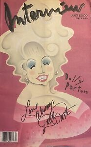 Dolly Parton  Signed Autographed Andy Warhol  INTERVIEW MAGAZINE RARE Read List