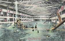 Redondo Beach California Interior of Bath House Antique Postcard J49941