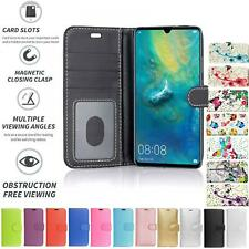 For Huawei Honor 9X, Flip Book Pouch Cover Case Wallet PU Leather NEW[Black]