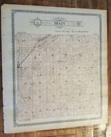 Antique MAP-BRADY TOWNSHIP - KALAMAZOO, Michigan/Ogle & Co.1910