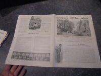 """Ancien Programme """"Croisière d'Hibernation"""" Paquebot île de France 1904"""