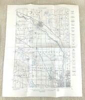 1915 Antique Map of Minneapolis Anoka Champlin Ramsey United States Topography