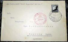 Lettera Francoforte 1938 Graf Zeppelin Sudeti VIAGGIO MONTAGNA ricchi 3 LZ 130 (36