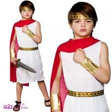 Roman Boy Gladiator Emperor Caesar Greek Historical Boys Fancy Dress Costume 5 - 7 Years