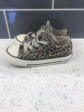 Leopard Print Converse Baby Girl Toddler Size Uk 8 Infant
