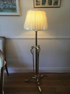 Antique Victorian Adjustable Telescopic Brass Floor/Standard Lamp