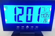 Sveglia Orologio da Tavolo Ampio display lcd Retro illuminato a Led
