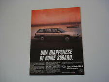 advertising Pubblicità 1990 SUBARU LEGACY