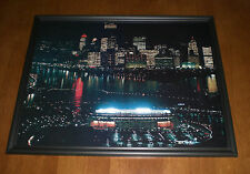 STEELERS THREE RIVERS & PITTBURGH @ NIGHT FRAMED 11X14