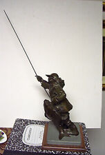 Hollis Williford   original   bronze   Surf Fisherman