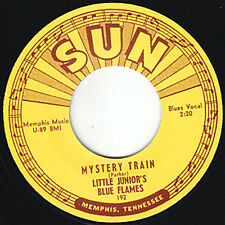 "Little Junior Bleu de flammes Mystery Train Soleil Junior Parker 7"" réédition r&b entendre"