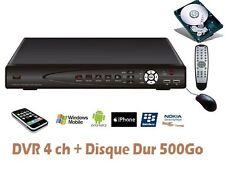 Enregistreur numérique Vidéosurveillance IP 500Go ,DVR pour 4 caméras vidéo