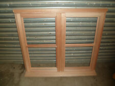 New Unfinished Unglazed H Bar Hardwood Window 1195mm x 1195mm 2 x Side Openers