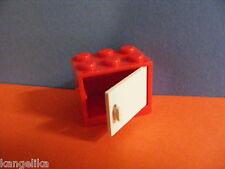 Lego--4532/4533 -- Schrank,Container,Box -- 2 x 3 x 2 - Mit Türe -- Rot /Weiß --