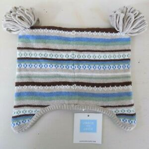 Janie and Jack Boys Knitted Beanie Hat 6-12 Mon Stripe Layette