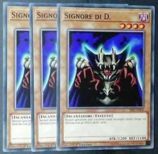 Set 3 Carte : SIGNORE DI D.  Comune in Italiano SPEED DUEL SS02-ITA05 YUGIOH