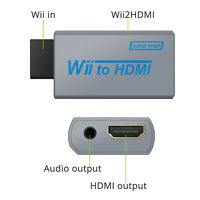 Portable Wii to HDMI Wii2HDMI Full HD Converter  3.5mm Audio Adapter HD HDTV US