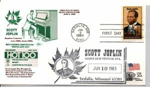 """#2044 """"KING OF RAGTIME """" SCOTT JOPLIN STAMP FIRST DAY OF ISSUE, BLACK HERITAGE"""