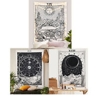 The Sun Moon Star Tapestry Wall Hanging Mandala Boho Bedspread Home Decor USA
