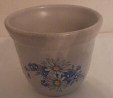 "Crockery Inc. USA Stoneware Bowl Dish Blue Flowers 3.5"" Diameter 3.5"" Tall"