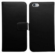 JET Black Premium in pelle Flip Book walet Case Cover per Apple iPhone 8 e vetro