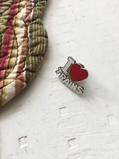 Vintage I Love Trains Pin, Heart Hat Lapel, Railroad, Railway, RR, Train Lovers