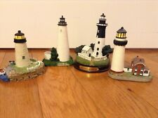 Lighthouses Lot of 4 Spoontiques~Lefton~ St Simons~Concord Point~Ocracoke Island