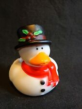 "Mr Scrooge Rubber Ducky 2"" Duckie Ba Humbug Squeezable Christmas Holiday Toy"