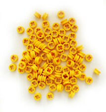 LEGO NEW Technic 100 pcs YELLOW BUSH Half Bushing 1/2 Axle Connector Part 4265c