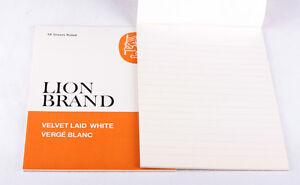Vintage Lion Brand Velvet Laid White Size 2 Pad (18 Sheets) x 2