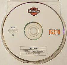 Official Harley-Davidson service training PHD DVD 150.01 1998 Sound Systems