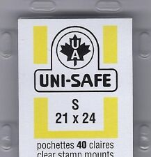 "Prinz Uni-Safe ""S"" Top Opening #21x24  Stamp Mounts (Made in Germany) 40 Clear"