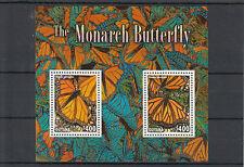 Guyana 2014 MNH monarch butterfly 2) / S / S II INSETTI FARFALLE Fauna
