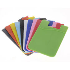 1Pc Adhesive Cell Phone Back Cover Bus Pass Card Bank Card Case Holder Pouch