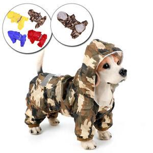Pet Dog Raincoat Reflective Waterproof Hoodies OutdoorWear Jacket Apparel XS-XXL