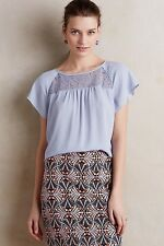 NWT Anthropologie Lace Trace Tee Size 6 Sky Blue By Maeve