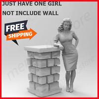 Unpainted 1/35 Modern Female Beauty Girl Resin Figure Model Kit Unassembled GK
