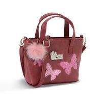 Borsa Tote Shopper Tracolla MINNIE DISNEY Bordeaux Donna Woman Shoulder Bag 3...