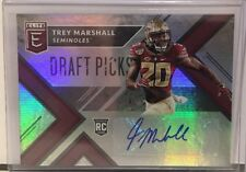 Trey Marshall 2018 Elite Draft Picks Draft Pick Auto Autograph RC #237