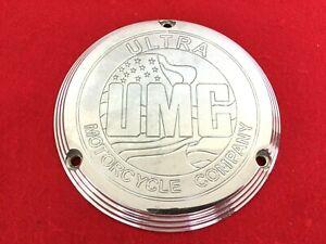 ULTRA CHOPPER UMC 70-98 HARLEY AMF BILLET 3-HOLE EVO DERBY COVER SHOVELHEAD FXR
