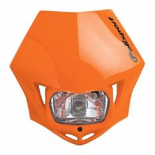 Polisport MMX Headlight Orange Motorcycle Dirt Bike Dual Sport Enduro DOT