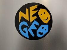 "2 pack Arcade Round NEOGEO Neo GEO Gloss Yellow/Blue Vinyl Decal Sticker 4""x 4"""