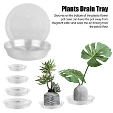 10pcs Clear Round Plastic Saucer Planter Plant Pot Base Saucers Water Trays
